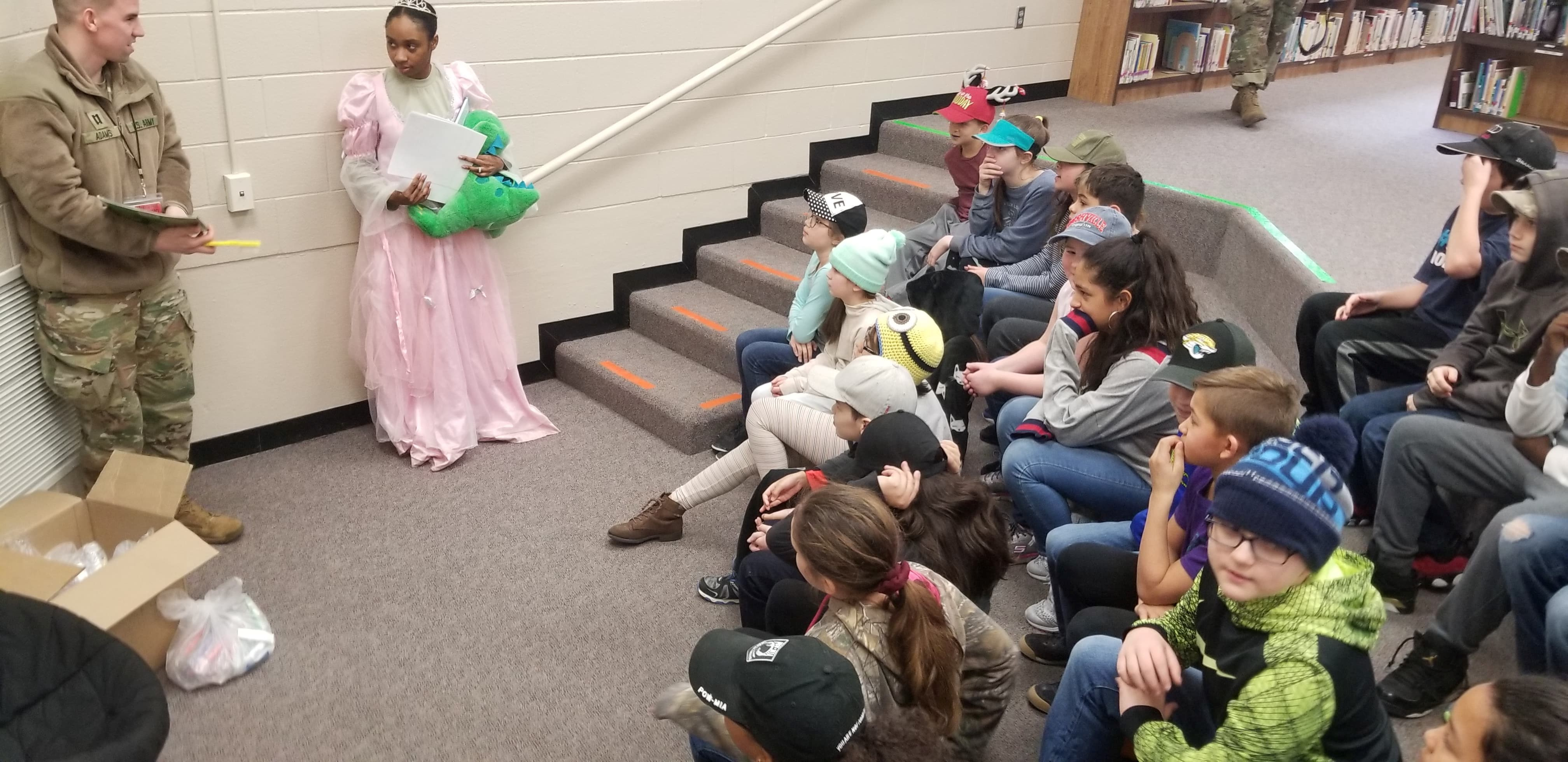 5th grade students listening to tooth fairy