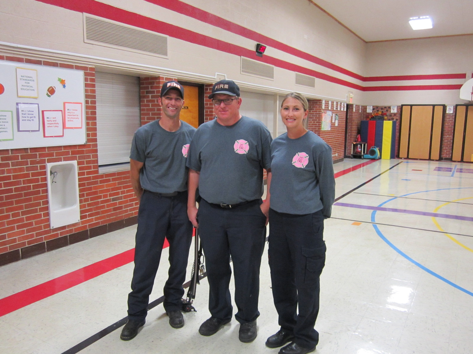 Fire Fighters who taught fire safety